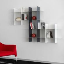 Libreria componibile di design in metallo laccato