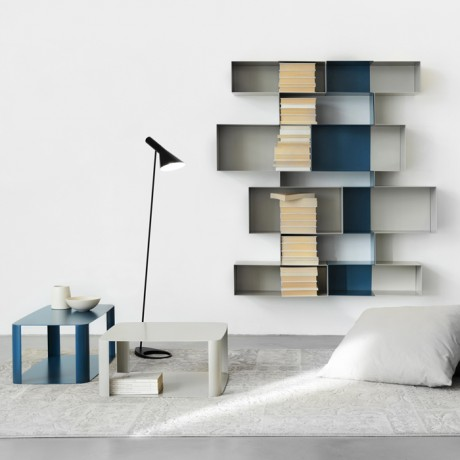 libreria di design in metallo laccato