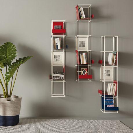 Libreria modulare da parete LIBRO VERTICALE di Memedesign