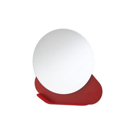 Nuvola wall mirror with shelf