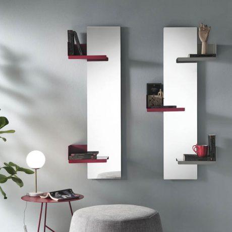 Specchiera a parete con mensole