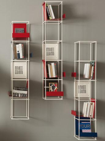Red passion: libreria Libro Verticale di Memedesign